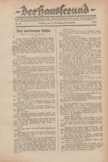 """Der Hausfreund : Unterhaltungsbeilage zum """"Ostdeutschen Volksblatt"""".1929, Nr. 47 (24 Nebelung [November])"""