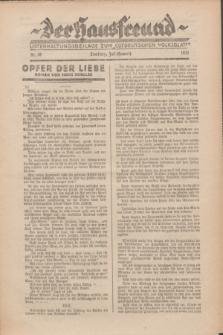 """Der Hausfreund : Unterhaltungsbeilage zum """"Ostdeutschen Volksblatt"""".1931, Nr. 28 (Heuert [Juli])"""