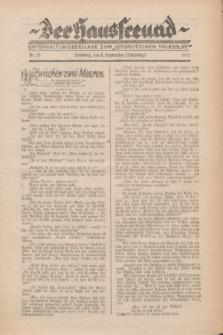 """Der Hausfreund : Unterhaltungsbeilage zum """"Ostdeutschen Volksblatt"""".1931, Nr. 35 (6 Scheiding [September])"""