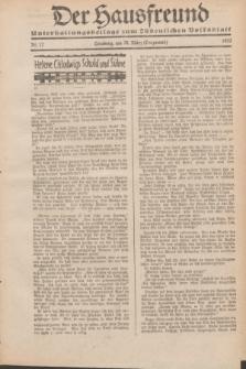"""Der Hausfreund : Unterhaltungsbeilage zum """"Ostdeutschen Volksblatt"""".1932, Nr. 12 (20 Lenzmond [März])"""