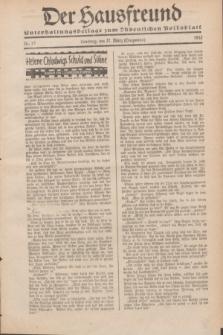 """Der Hausfreund : Unterhaltungsbeilage zum """"Ostdeutschen Volksblatt"""".1932, Nr. 13 (27 Lenzmond [März])"""