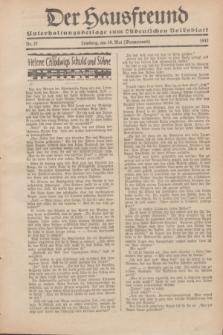 """Der Hausfreund : Unterhaltungsbeilage zum """"Ostdeutschen Volksblatt"""".1932, Nr. 22 (29 Wonnemond [Mai])"""