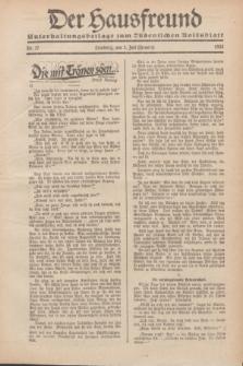 """Der Hausfreund : Unterhaltungsbeilage zum """"Ostdeutschen Volksblatt"""".1932, Nr. 27 (3 Heuert [Juli])"""