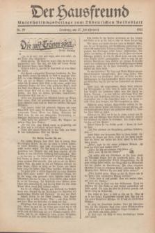 """Der Hausfreund : Unterhaltungsbeilage zum """"Ostdeutschen Volksblatt"""".1932, Nr. 29 (17 Heuert [Juli])"""