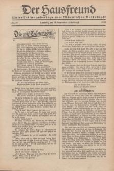 """Der Hausfreund : Unterhaltungsbeilage zum """"Ostdeutschen Volksblatt"""".1932, Nr. 38 (18 Scheiding [September])"""
