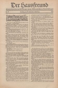 """Der Hausfreund : Unterhaltungsbeilage zum """"Ostdeutschen Volksblatt"""".1932, Nr. 39 (25 Scheiding [September])"""