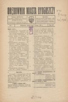 Orędownik Miasta Bydgoszczy. R.54, nr 1 (1 lutego 1938)