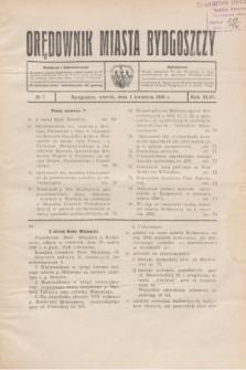 Orędownik Miasta Bydgoszczy. R.46, № 7 (1 kwietnia 1930)