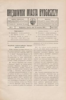 Orędownik Miasta Bydgoszczy. R.46, № 8 (15 kwietnia 1930)