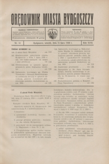 Orędownik Miasta Bydgoszczy. R.46, nr 14 (15 lipca 1930)