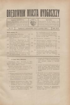 Orędownik Miasta Bydgoszczy. R.46, nr 17 (1 września 1930)