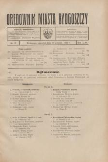 Orędownik Miasta Bydgoszczy. R.46, nr 20 (18 września 1930)