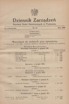 Dziennik Zarządzeń Dyrekcji Kolei Państwowych w Poznaniu.1928, nr 19 (13 października)