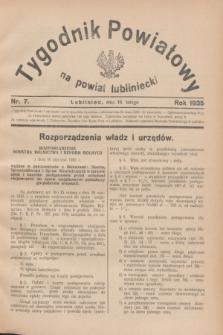 Tygodnik Powiatowy na powiat lubliniecki.1935, nr 7 (16 lutego)