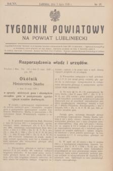Tygodnik Powiatowy na powiat lubliniecki.R.15, nr 27 (9 lipca 1938)