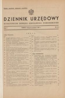 Dziennik Urzędowy Kuratorium Okręgu Szkolnego Pomorskiego.R.5, nr 3/4 (listopad-grudzień 1937)