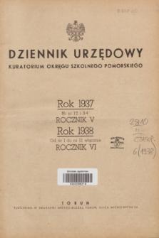 Dziennik Urzędowy Kuratorium Okręgu Szkolnego Pomorskiego.R.6, Skorowidz alfabetyczny (1938)