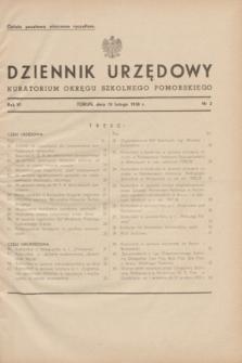 Dziennik Urzędowy Kuratorium Okręgu Szkolnego Pomorskiego.R.6, nr 2 (10 lutego 1938)