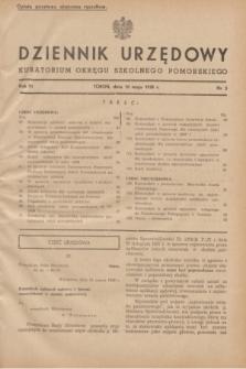 Dziennik Urzędowy Kuratorium Okręgu Szkolnego Pomorskiego.R.6, nr 5 (10 maja 1938)