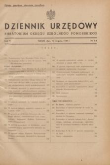 Dziennik Urzędowy Kuratorium Okręgu Szkolnego Pomorskiego.R.6, nr 7/8 (10 sierpnia 1938)