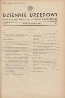 Dziennik Urzędowy Kuratorium Okręgu Szkolnego Pomorskiego.R.7, nr 2 (10 lutego 1939)