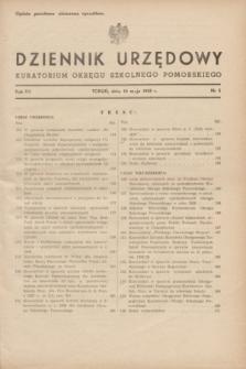 Dziennik Urzędowy Kuratorium Okręgu Szkolnego Pomorskiego.R.7, nr 5 (10 maja 1939)