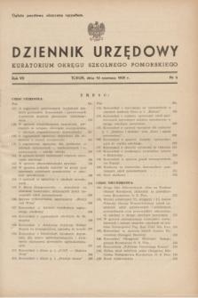 Dziennik Urzędowy Kuratorium Okręgu Szkolnego Pomorskiego.R.7, nr 6 (10 czerwca 1939)