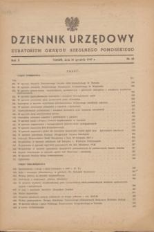 Dziennik Urzędowy Kuratorium Okręgu Szkolnego Pomorskiego.R.10, nr 13 (31 grudnia 1947)