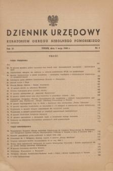 Dziennik Urzędowy Kuratorium Okręgu Szkolnego Pomorskiego.R.11, nr 4 (1 maja 1948)