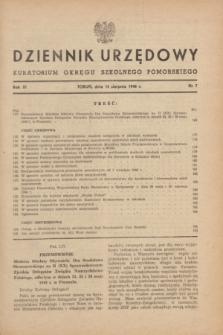 Dziennik Urzędowy Kuratorium Okręgu Szkolnego Pomorskiego.R.11, nr 7 (15 sierpnia 1948)