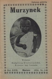Murzynek.R.22, nr 3 (marzec 1934)