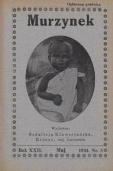 Murzynek.R.22, nr 5 (maj 1934)