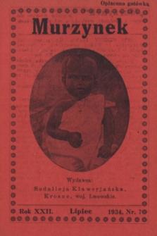 Murzynek.R.22, nr 7 (lipiec 1934)