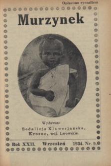 Murzynek.R.22, nr 9 (wrzesień 1934)