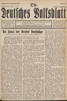 Ost-Deutsches Volksblatt.[Jg.11], Folge 46 (13 November 1932)