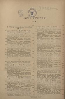 Wiadomości Urzędu Patentowego. R.20, Spis rzeczy (1943)
