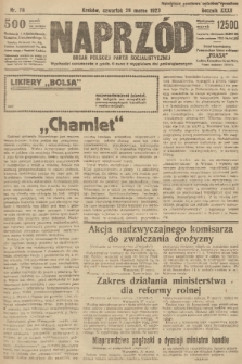 Naprzód : organ Polskiej Partji Socjalistycznej. 1923, nr78