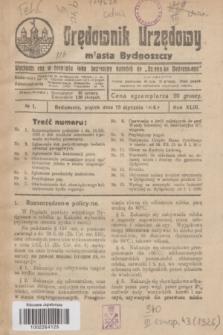 Orędownik Urzędowy Miasta Bydgoszczy.R.43, № 1 (15 stycznia 1926)