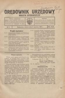 Orędownik Urzędowy Miasta Bydgoszczy.R.43, № 5 (8 czerwca 1926)