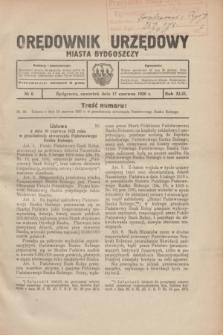 Orędownik Urzędowy Miasta Bydgoszczy.R.43, № 6 (17 czerwca 1926)