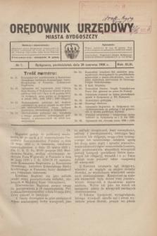 Orędownik Urzędowy Miasta Bydgoszczy.R.43, № 7 (28 czerwca 1926)