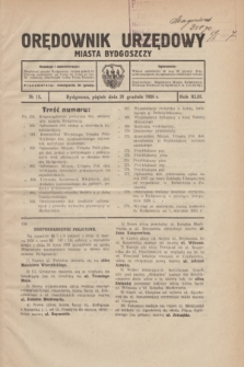 Orędownik Urzędowy Miasta Bydgoszczy.R.43, № 15 (31 grudnia 1926)
