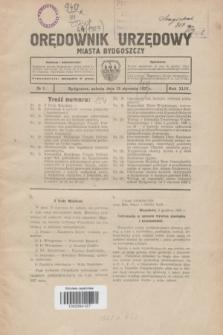 Orędownik Urzędowy Miasta Bydgoszczy.R.44, № 1 (15 stycznia 1927)