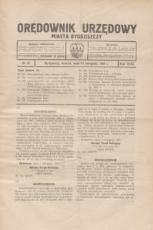 Orędownik Urzędowy Miasta Bydgoszczy.R.44, № 18 (15 listopada 1927)