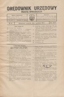 Orędownik Urzędowy Miasta Bydgoszczy.R.44, № 19 (1 grudnia 1927)