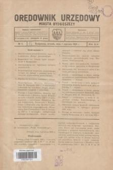 Orędownik Urzędowy Miasta Bydgoszczy.R.45[!], № 1 (1 stycznia 1929)