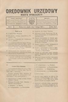 Orędownik Urzędowy Miasta Bydgoszczy.R.45[!], № 3 (1 lutego 1929)