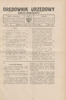 Orędownik Urzędowy Miasta Bydgoszczy.R.45[!], № 6 (15 marca 1929)