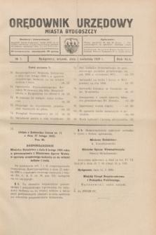 Orędownik Urzędowy Miasta Bydgoszczy.R.45[!], № 7 (2 kwietnia 1929)