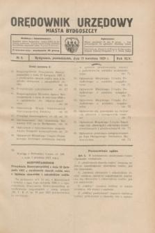 Orędownik Urzędowy Miasta Bydgoszczy.R.45[!], № 8 (15 kwietnia 1929)